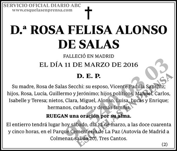 Rosa Felisa Alonso de Salas